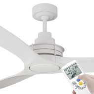 Mercator Flinders 140cm White Ceiling Fan With LCD Remote