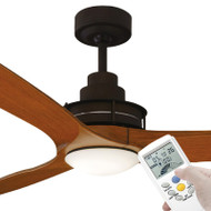 Mercator Flinders 140cm Oil Rubbed Bronze Ceiling Fan With LED Light & LCD Remote