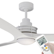 Mercator Flinders 140cm White Ceiling Fan With LED Light & LCD Remote