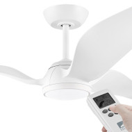 Eglo Seagull DC Motor 142cm White LED Light & Remote Ceiling Fan