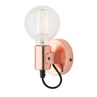 Mercator Bronte Simple Wall Light Brushed Copper