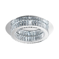 Eglo Corliano 20w LED Crystal Round Ceiling Light 4000K