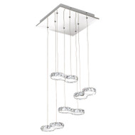 Eglo Corliano 8lt LED Crystal Hanging Pendant 4000K