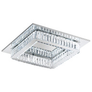 Eglo Corliano 24w LED Crystal Square Ceiling Light 4000K