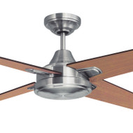 Mercator Ciesta 130cm Nickel Motor Timber Blade Ceiling Fan