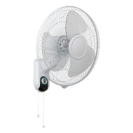Mercator Athena II 40cm White Wall Fan With Pull Cord