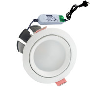 Envirostar Rotary 12w 5000K LED Down Light Round White