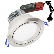 Atom AT9016 15w 4000K LED Down Light Gimble Satin Chrome