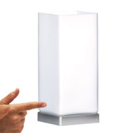 Mercator Cube Touch Lamp Chrome