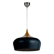 Telbix Polk 46 Hanging Pendant Oak/Black