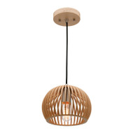 Mercator Cuzco Timber Hanging Pendant Small