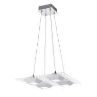 Telbix Danica 4lt LED Hanging Pendant Square