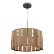 Mercator Stirling Natural Timber Hanging Pendant