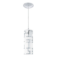 Eglo Bayman 1lt White Glass Hanging Pendant
