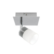 Mercator Haddin 1lt LED Spotlight Brushed Chrome