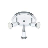 Eglo Eridan 3lt Round GU10 LED Spotlight White