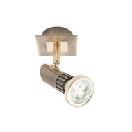 Mercator Pronto 1lt GU10 LED Spotlight Antique Brass
