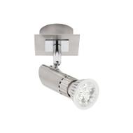 Mercator Pronto 1lt GU10 LED Spotlight Brushed Chrome