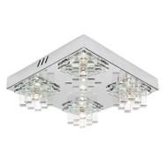 Mercator Jasmine 4lt Chrome & Glass Wall & Ceiling Light