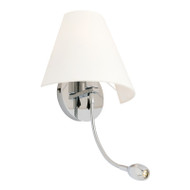Mercator Truman Frost Glass Wall Light + LED Arm
