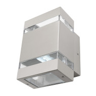 Mercator Hedland LED Exterior Up/Down Wall Light 316 S/Steel