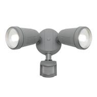 Mercator Otto 2 X 12w LED Exterior Spotlight & Sensor Silver