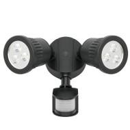 Mercator Ritz 2 X 9w LED Exterior Spotlight & Sensor Black