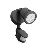 Mercator Ritz 1 X 9w LED Exterior Spotlight & Sensor Black