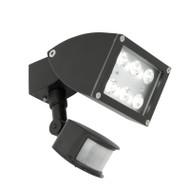 Mercator Zone 1 X 12w LED Exterior Spotlight & Sensor Black