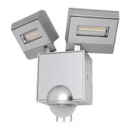 Mercator Cheetah 2 X 11w LED Exterior Spotlight & Sensor Silver