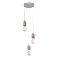 Eglo Silvares 3lt Grey Concrete Hanging Pendant