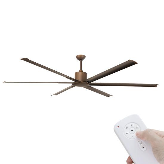 brilliant maelstrom dc motor 214cm rubbed bronze & remote ceiling Brilliant Ceiling Fan