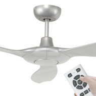 Brilliant Concorde DC Motor 152cm Silver & Remote Ceiling Fan
