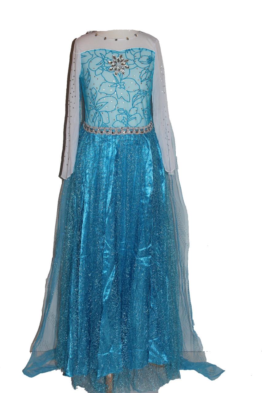 Girls Frozen Snow Queen Elsa Costume Snow Princess Dress