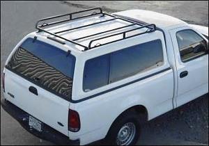 Short bed Canopy Ladder Rack For Camper Tops, Vans & Tonneau Covers on camper shell