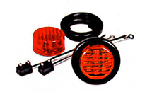 "2"" Round Red LED Sealed Marker Light Kit"