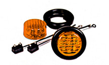 "2"" Round Amber LED Sealed Marker Light Kit"