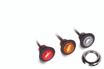 "¾"" Round LED Marker Light Pair  - three colors available (shown with OPTIONAL chrome bezel)"