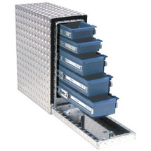 UWS Drawer Slide Tool Box has 5 sliding drawers WITHOUT compartments or dividers