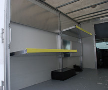 Brute Aluminum Folding Shelving for Cube Vans, Box Vans and Cargo Trailers