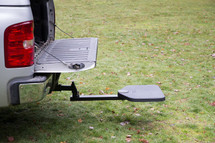 TwiStep Pick-Up Truck Hitch Step extends to work when the tailgate is open