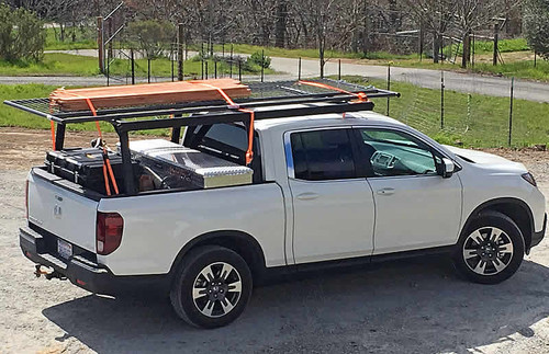 Honda Ridgeline Over The Cab Ladder Rack - 2017 to Current Model Year - rack only. Toolboxes and supplies not included.