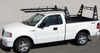 Wildcatter Super Heavy Duty Truck Ladder Rack shown without standard mesh cab guard and the OPTIONAL, additional over-cab crossbar.