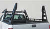 Wildcatter Super Heavy Duty Truck Ladder Rack WITHOUT mesh cab guard, OPTIONAL additional over-cab crossbar with rear crossbar removed.