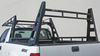 Wildcatter Super Heavy Duty Truck Ladder Rack WITHOUT mesh cab guard, OPTIONAL additional over-cab crossbar with rear crossbar installed.