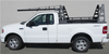 Wildcatter Super Heavy Duty Truck Ladder Rack in non-standard white powder coat WITHOUT standard cab guard.