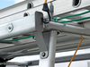 Galleon Aluminum Overhead Stake Pocket Truck Ladder Rack has multiple tie-downs for all types of cargo on top