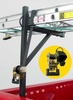 Sidewinder Side Mount Truck Ladder Rack with Built-in Ratchet Straps showing how ratchet straps secure your loads (ladder not included)
