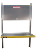 Single Brute Aluminum Folding Shelving unit with top shelf closed for Dodge ProMaster Vans