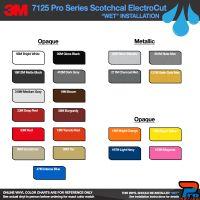 3M 7125 Series Color Options - Wet Installation Vinyl